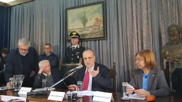 Il Ministro per i beni culturali, Alberto Bonisoli a Cosenza e Rossano dove ha visionato il Codex Purpureus Rossanensis