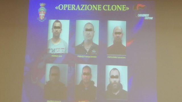 """Crotone, Operazione """"Clone"""": I nomi degli arrestati"""