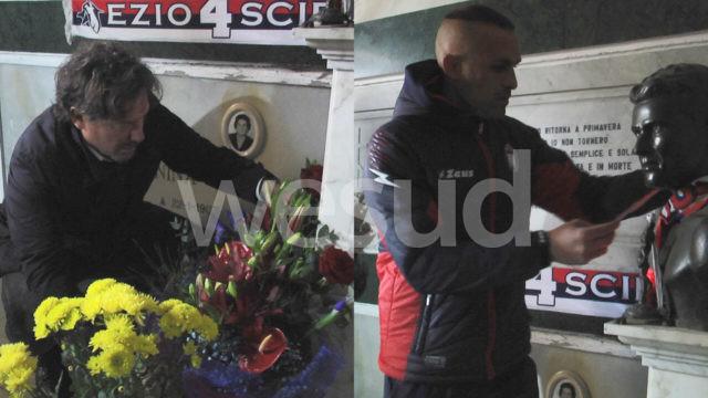 """Crotone: A 73 anni dalla scomparsa Cordaz e Stroppa rendono omaggio allo storico capitano """"Ezio Scida"""""""