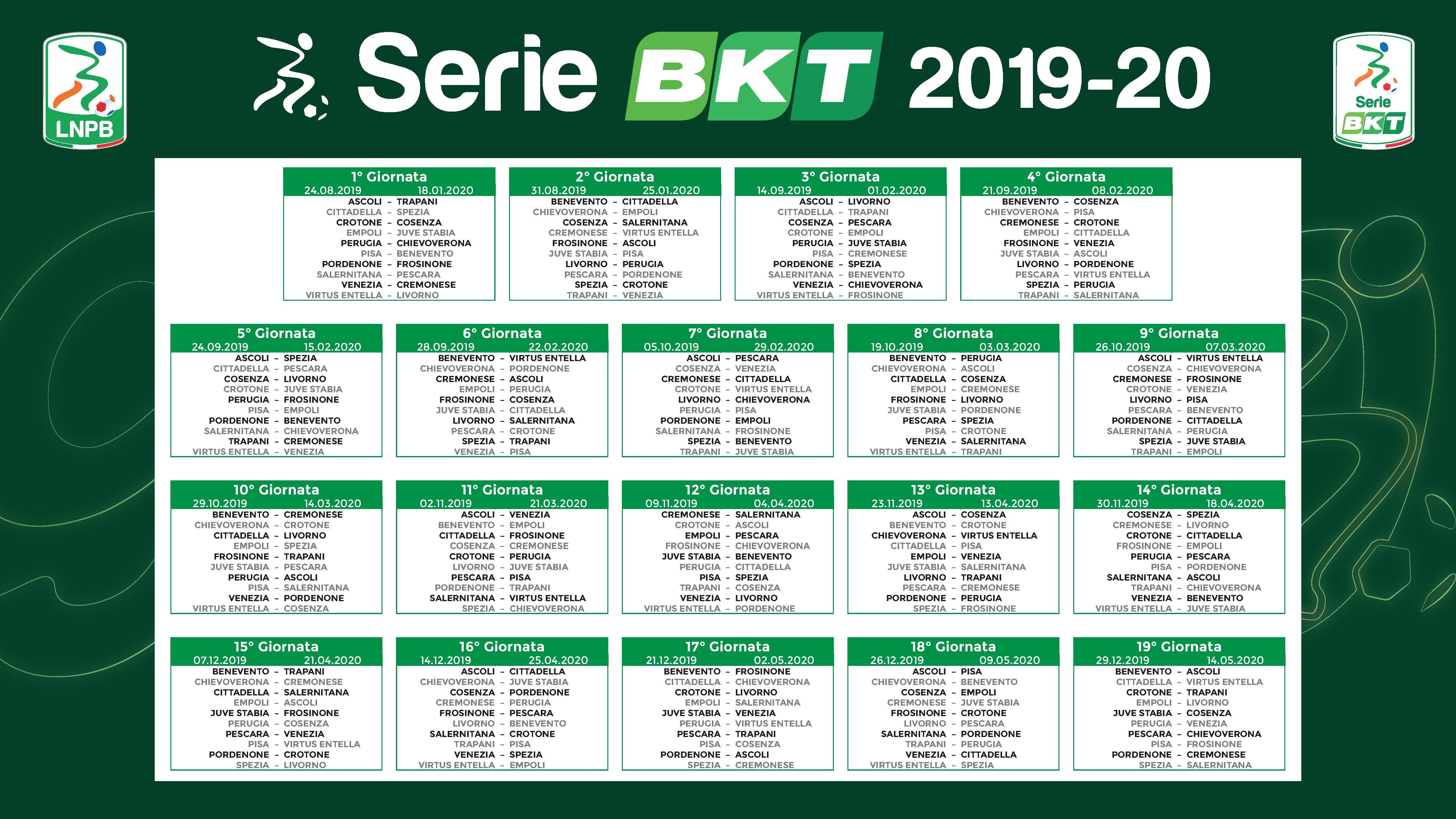 Arezzo Calcio Calendario.Serie B 2019 20 Sorteggiato Il Calendario Per Il Crotone