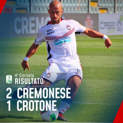 Serie B, Crotone sconfitto di misura allo Zini: la Cremonese vince 2-1