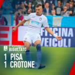 Serie B, Pisa – Crotone 1-1: gli squali strappano un punto d'oro all'Arena Garibaldi, Golemic risponde a De Vitis