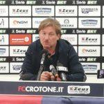 """Pisa -Crotone, Stroppa: """"Una partita difficile da affrontare"""""""