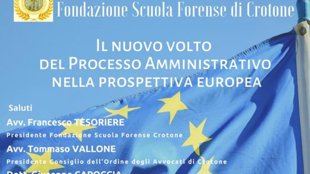 """Crotone, il 16 gennaio in tribunale il convegno """"Il nuovo volto del processo amministrativo europeo"""""""