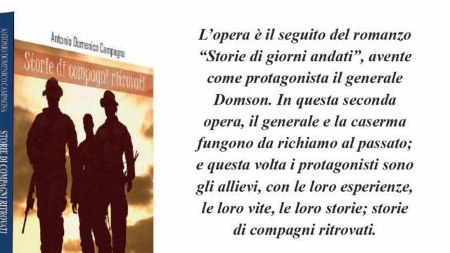 """Lo scrittore e poeta crotonese Antonio Domenico Campagna presenta """"Storie di compagni ritrovati"""""""