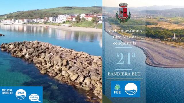 """""""Bandiera Blu"""", 15 le località premiate in Calabria: nel Crotonese Torre Melissa e Cirò Marina"""