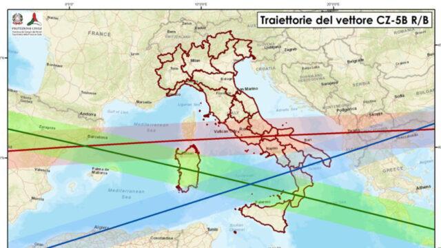 """Razzo cinese, Protezione Civile: """"Due le traiettorie che interessano la Calabria"""""""