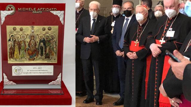Michele Affidato realizza le icone per il Consiglio delle Conferenze Episcopali d'Europa