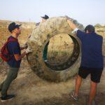 Successo per la carovana blu di Plastic Free tra i Calanchi di Cutro: raccolti rifiuti di ogni genere